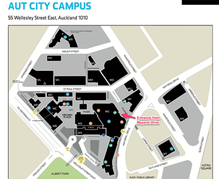 AUT Campus Map