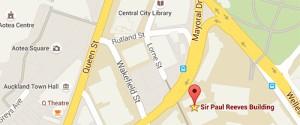 Map of Sir Paul Reeves Building